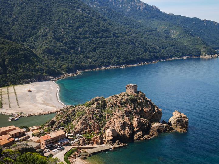 Corsica - road Calvi to Porto-arriving Porto