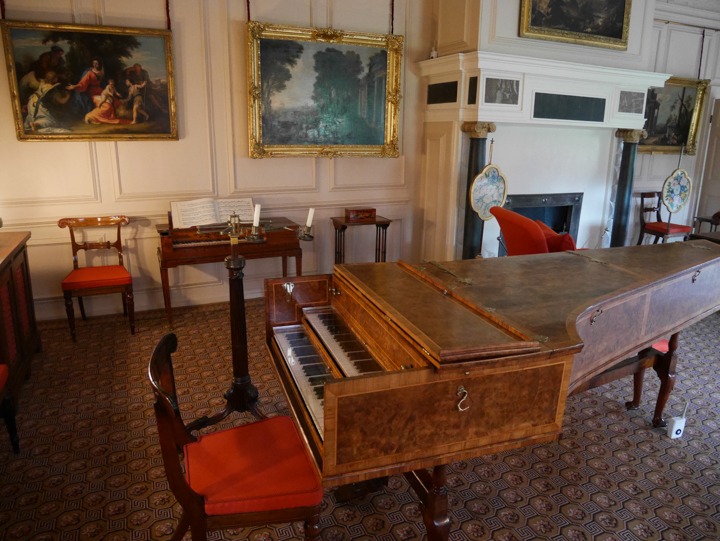 Kew-Palace-Garden-London-UK-drawing room piano