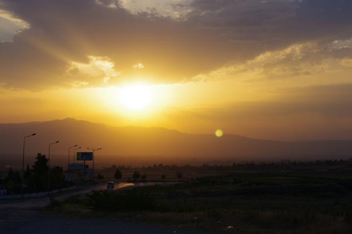 Pamukkale - Turkey-sunset
