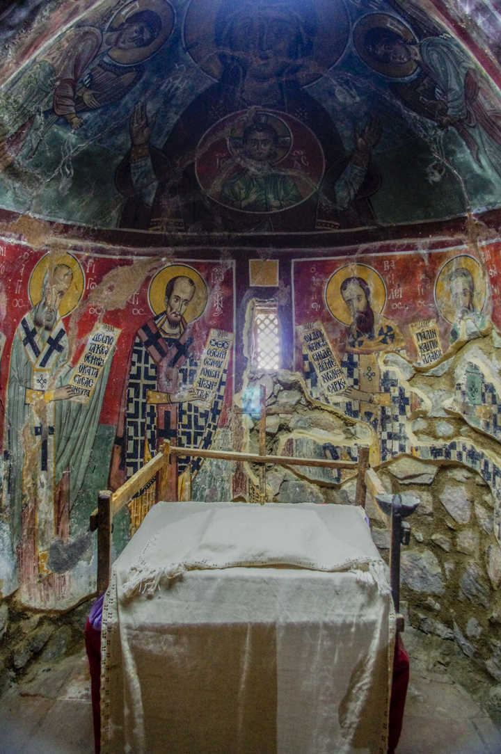 Panagia Moutoulla - Troodos Church - Cyprus-altar