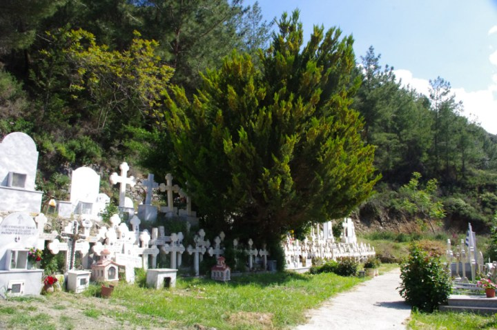 Panagia Moutoulla - Troodos Church - Cyprus-cemetery