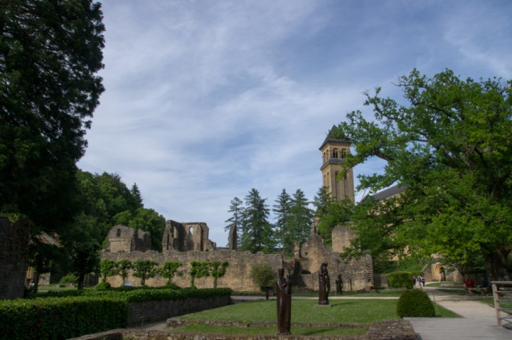 ORVAL- Belgium - abbaye ruins global view