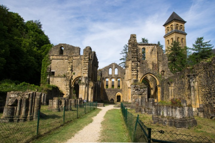 ORVAL- Belgium ruins of the medieval abbey.jpg