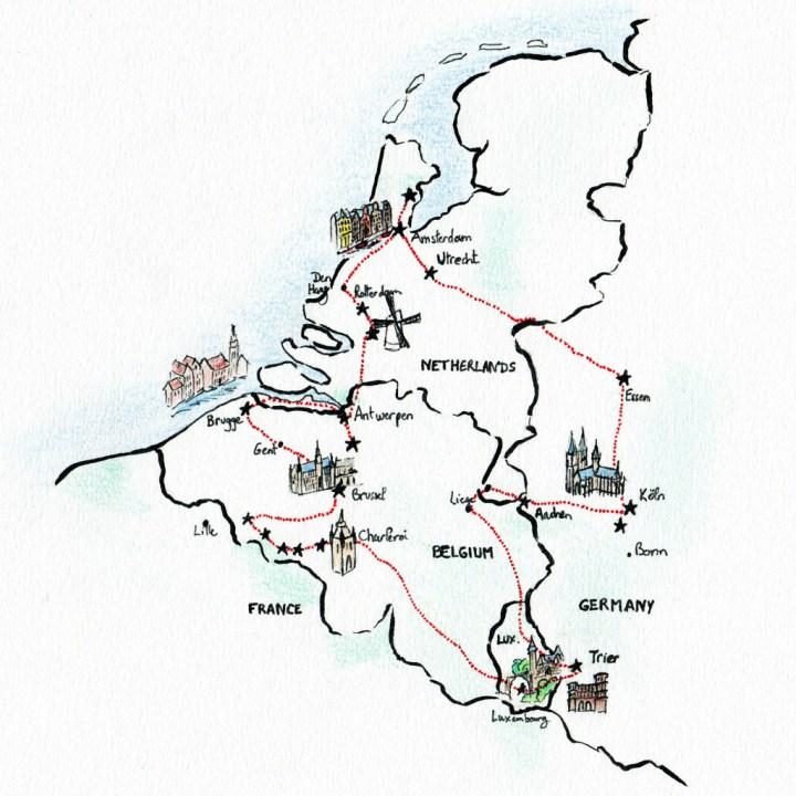 Benelux map