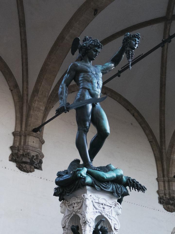 Florence - Firenze - Italy - piazza della Signoria - Loggia dei Lanzi - graphic