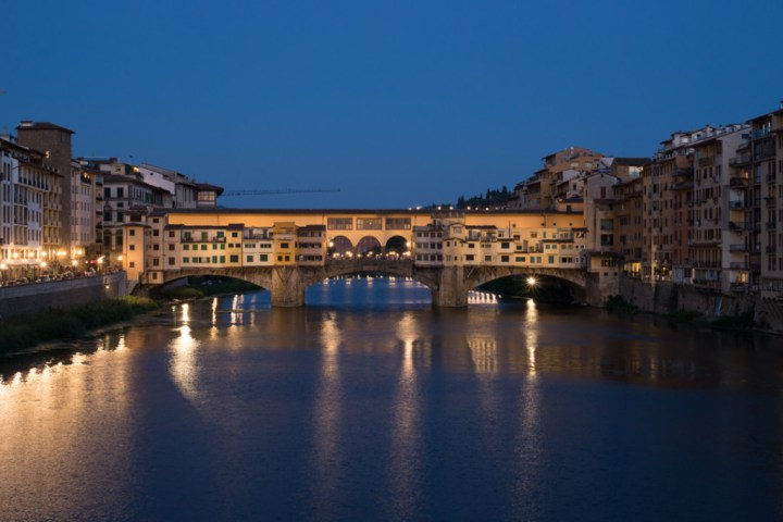 Florence - Firenze - Italy - view of Ponte Vecchio at sunset