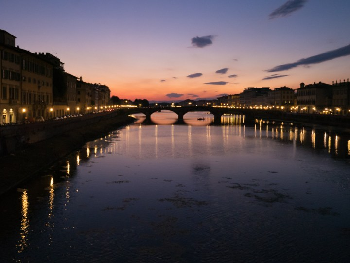 Florence - Firenze - Italy - view of the Arno river - Sunset