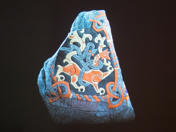 Jelling stones - Danemark - animal with a snake coiled around it