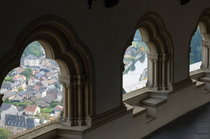 Vianden Castle - Luxembourg - Bizantine gallery view of city
