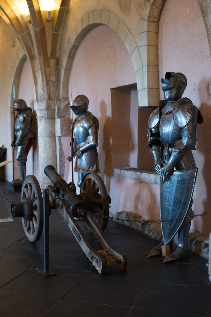 Vianden Castle - Luxembourg - arms hall - body armours