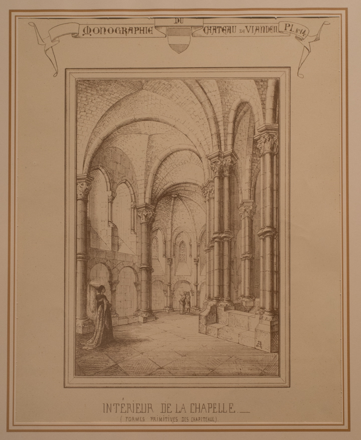 Vianden Castle - Luxembourg - drawing of the chapel