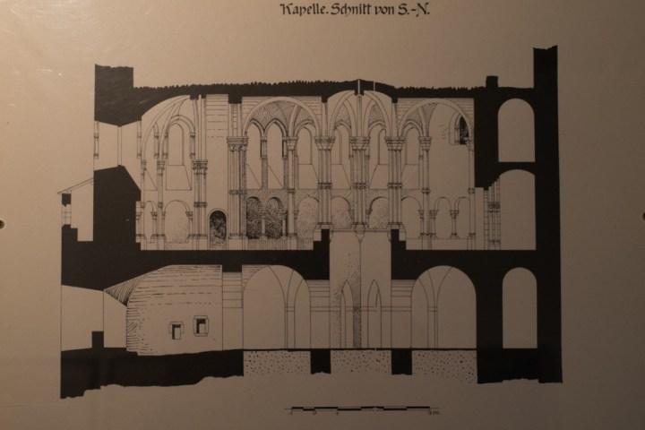 Vianden Castle - Luxembourg - plans of the chapel