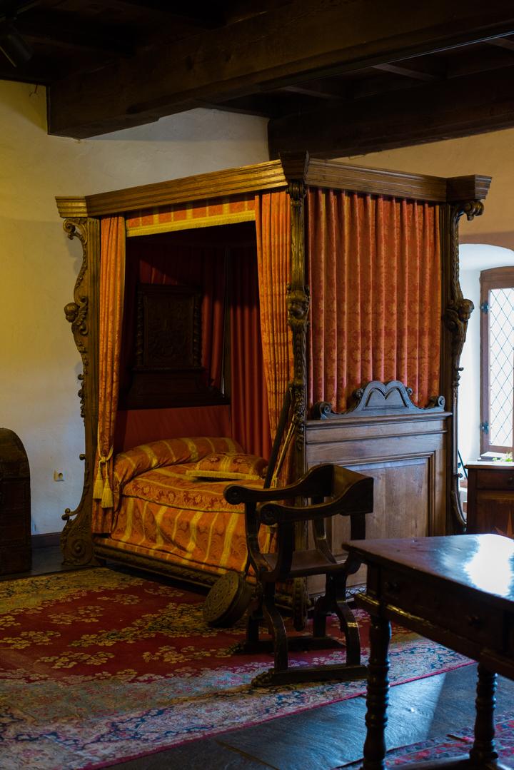 Vianden Castle - Luxembourg - the bedroom