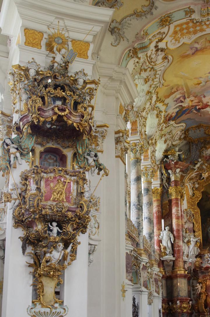 Wies Church - Wieskirche - Germany. pulpit