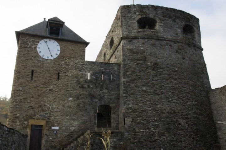 Bouillon Castle - Belgium - Godfrey of Bouillon - clock tower and austria tower