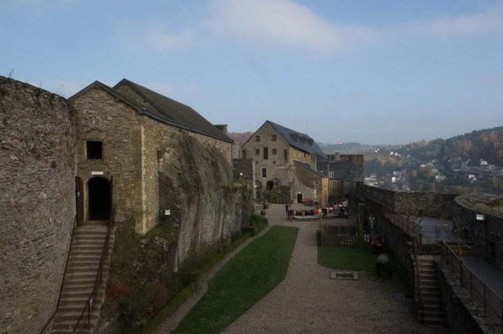 Bouillon Castle - Belgium - Godfrey of Bouillon - courtyard and access to powder room