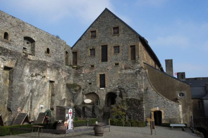 Bouillon Castle - Belgium - Godfrey of Bouillon - courtyard view on the Arsenal