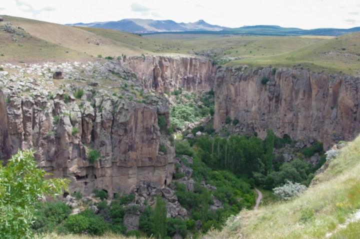 Ihlara Valley - Cappadocia - Turkey - view from visitor center