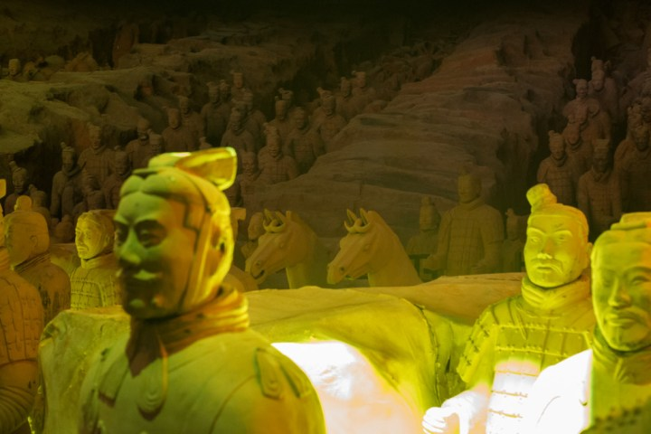 Terracotta Army of Xi'an - light show