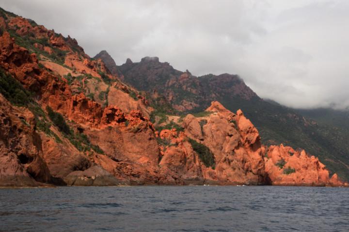 Scandola Nature Reserve in Corsica - red cliffs
