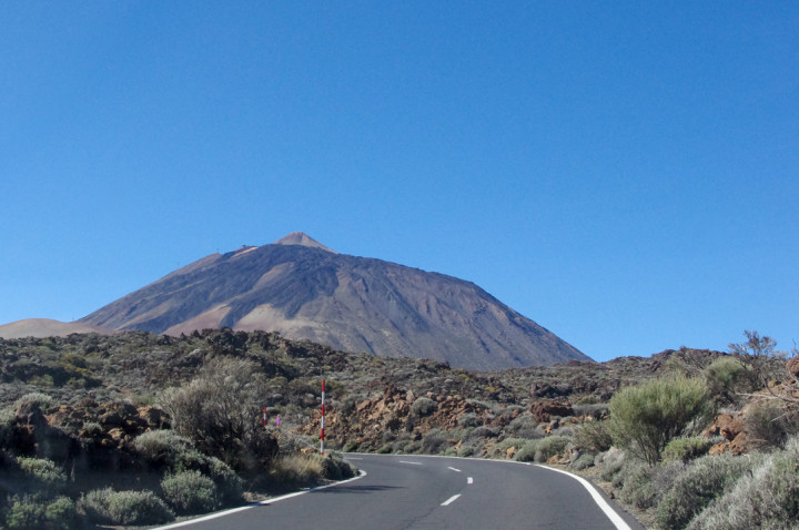 Tenerife - Spain - Mount Teide - Pico del Teide - National Park - view from road