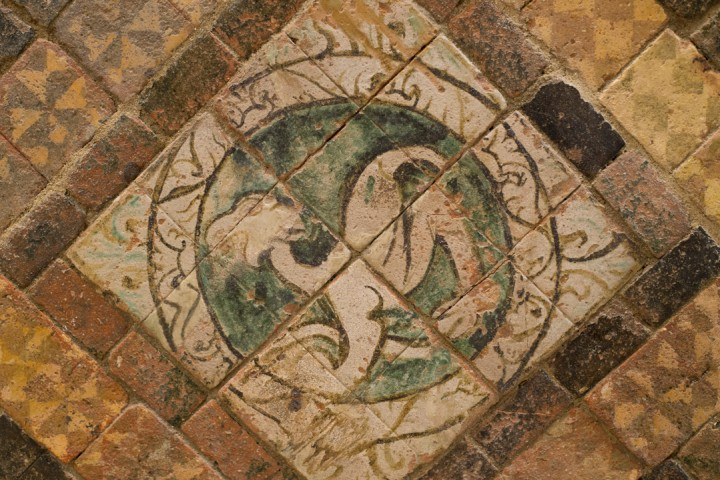 Suscinio - Brittany - France - terracotta tiles from the chapel