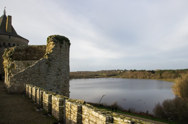 Suscinio - Brittany - France - view from the curtain wall