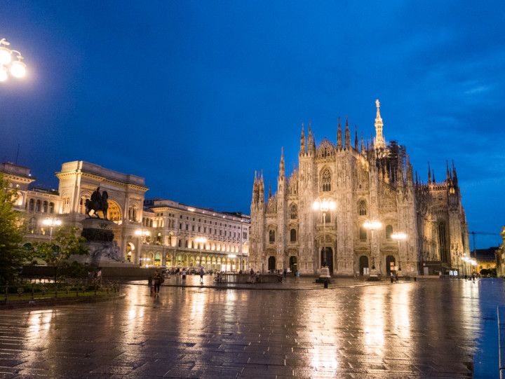 The Duomo di Milano after a summer storm - Milan Cathedral - Italy