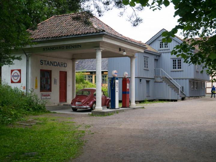 Norskfolkemuseum Oslo - Norway - open air museum - gaz station