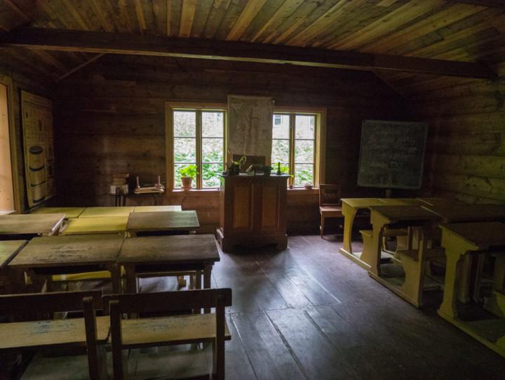 Norskfolkemuseum Oslo - Norway - open air museum - inside shcool house