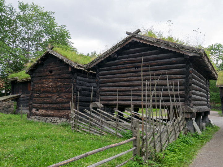 Norskfolkemuseum Oslo - Norway - open air museum - typical raised wooden house