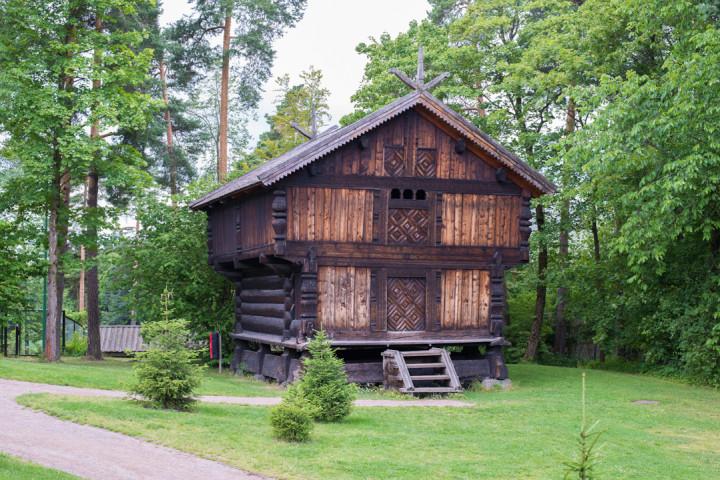 Norskfolkemuseum Oslo - Norway - open air museum - wooden raised house