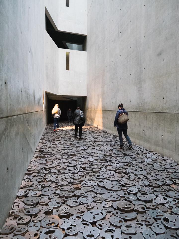 Jewish Museum Berlin - The Menashe Kadishman Fallen Leaves in the Memory Void - RoadTripsaroundtheWorld.com