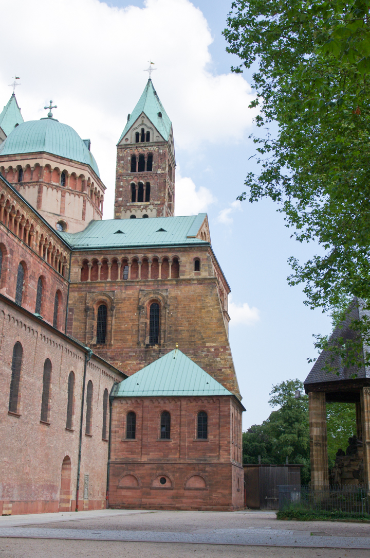 Side view of the Speyer Cathedral in Germany - Visit roadtripsaroundtheworld.com to learn more