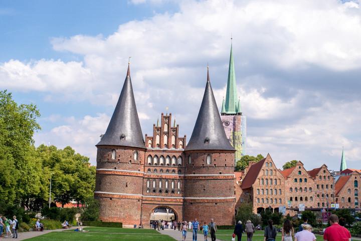The Holsten Gate in Lübeck, Germany - roadtripsaroundtheworld.com