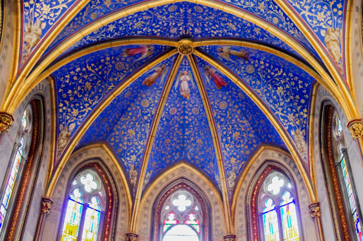 The incredible ceiling of the Christ's Chapel of the Hohenzollern Castle in Germany - Check out roadtripsaroundtheworld.com to find out more
