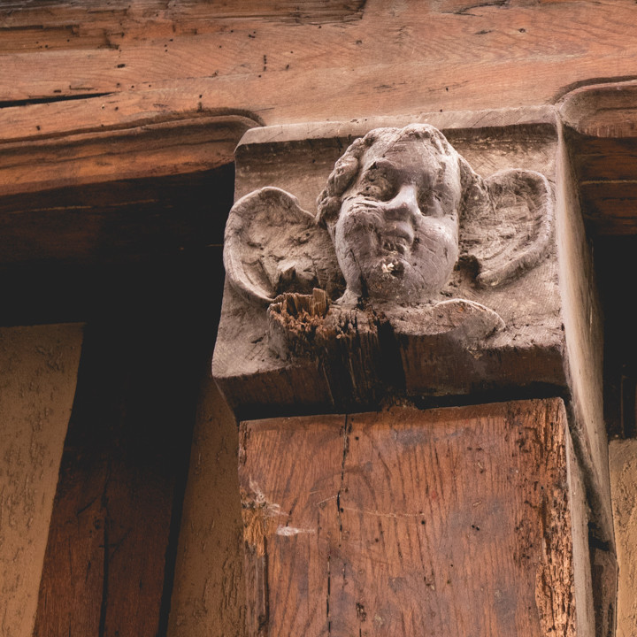 An Angel face in Troyes, France - roadtripsaroundtheworld.com