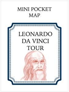 Mini Pocket Map Cover - Leonardo Da Vinci Tour around the Loire Valley, France