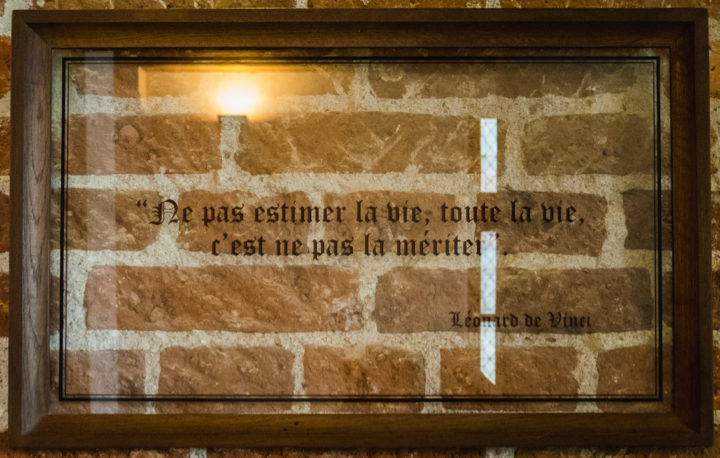 Quote by Leonardo da Vinci - Clos Lucé, France - Find out more on roadtripsaroundtheworld.com