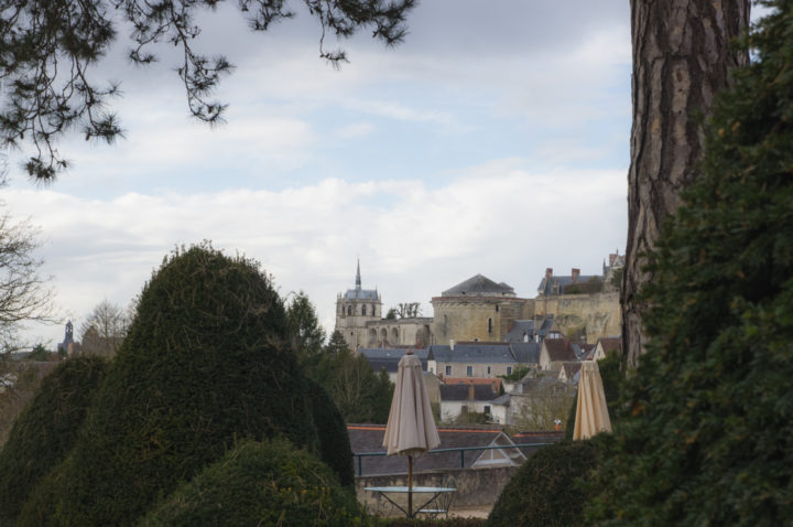 View of the Chateau d'Amboise from the Clos Lucé, France - Find out more on roadtripsaroundtheworld.com