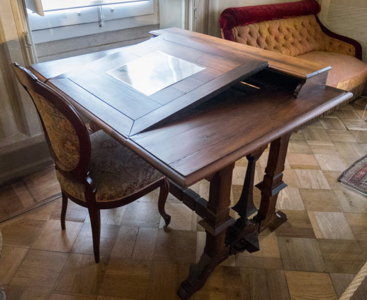 Desk in the Pena Palace - Sintra, Portugal - Learn more on roadtripsaroundtheworld.com