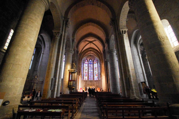 The Nave of the St Nazaire Basilica - Carcassonne - learn more on roadtripsaroundtheworld.com
