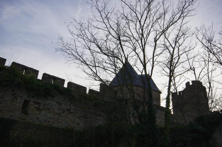 The walls of the cité de Carcassonne - learn more on roadtripsaroundtheworld.com