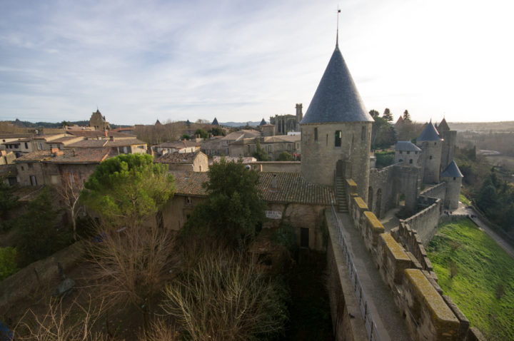 View from the battelemtn walls of Carcassonne - learn more on roadtripsaroundtheworld.com