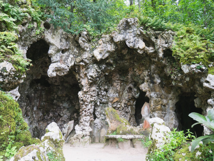 Grotto of the East and entrance of the tunnels - Quinta da Regaleira Palace - Portugal - Learn more on RoadTripsaroundtheWorld.com