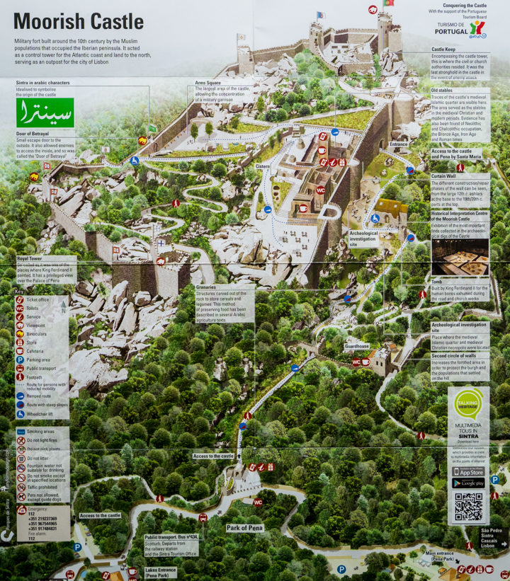 Map of the Castle of the Moors - Learn more on RoadTripsaroundtheWorld.com