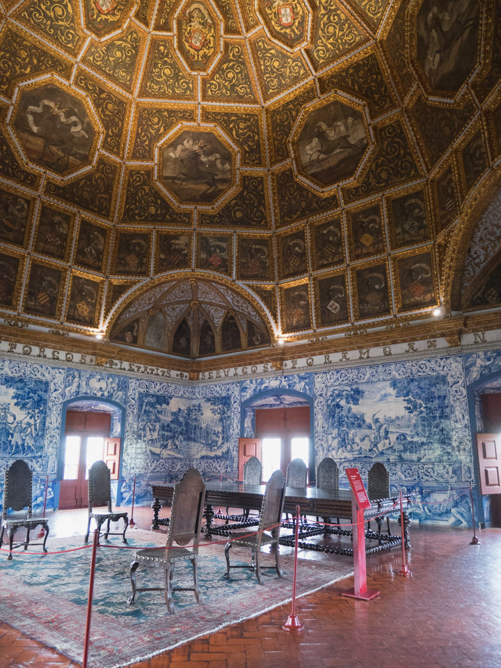 Room of the Coats of Arms at the Sintra Palace - Portugal - Learn more on RoadTripsaroundtheWorld.com