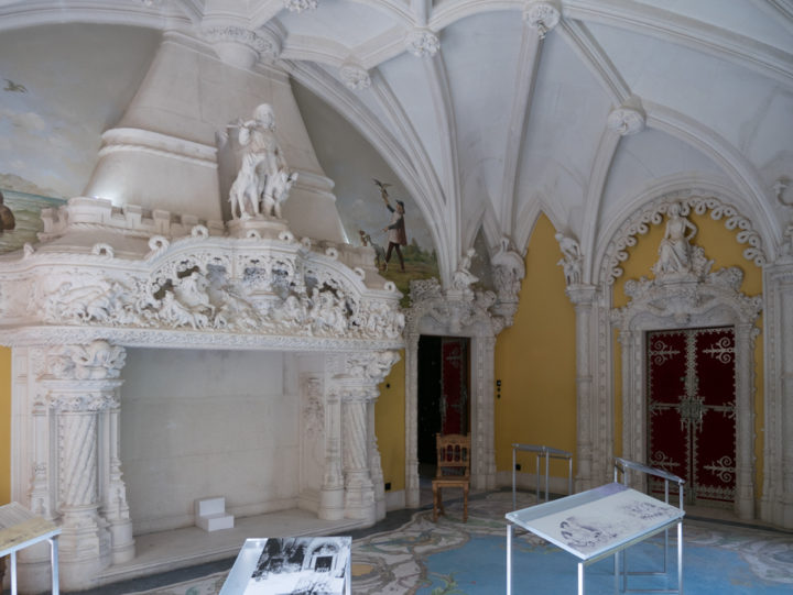 The hunting room of the Quinta da Regaleira Palace - Portugal - Learn more on RoadTripsaroundtheWorld.com