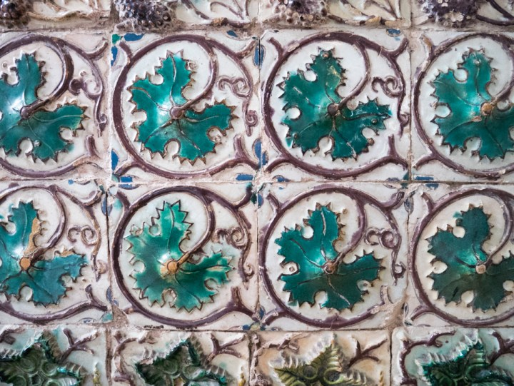 The tiles of the Mermaid room - Sintra Palace - Portugal - Learn more on RoadTripsaroundtheWorld.com