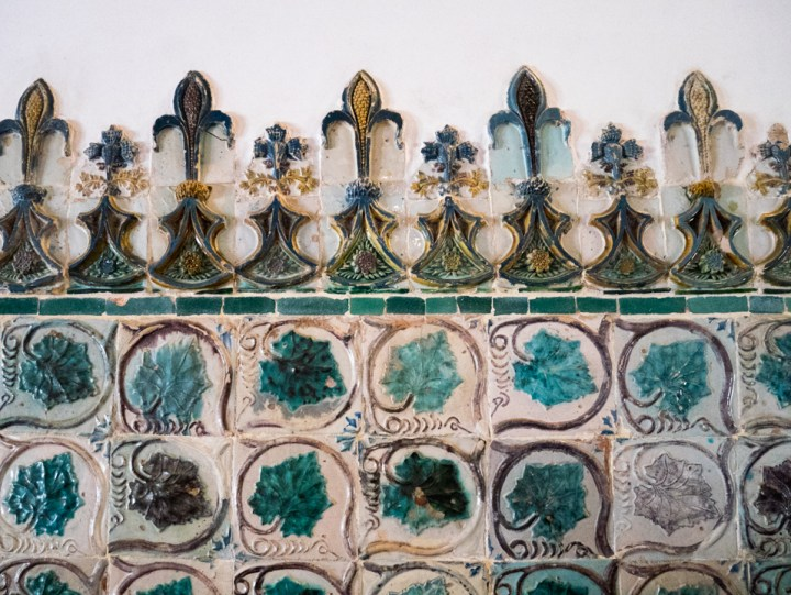 Tiles at the Sintra Palace - Portugal - Learn more on RoadTripsaroundtheWorld.com